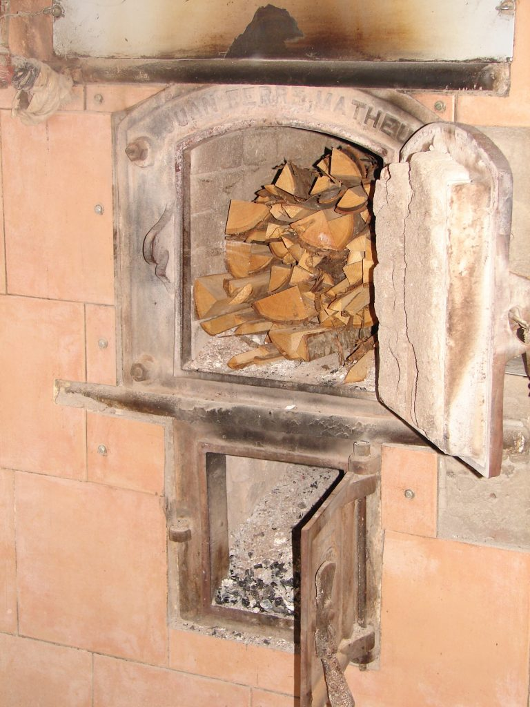 Wooden oven turned off