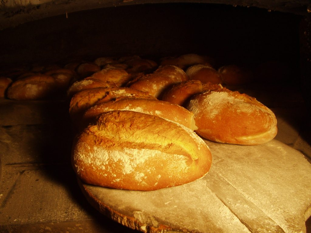 Bread in the wood oven