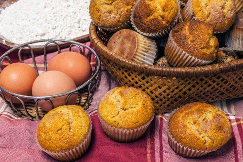 Magdalenes de farina ecològica d'espelta sense sucre