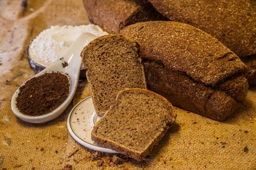 Rye, wheat and malt sliced bread