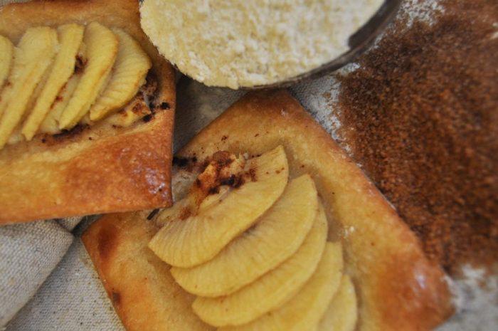 Pasta de fulll de kamut ecològic amb poma i crema