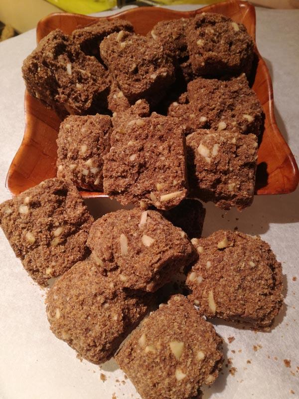 Galetes d'ametlla amb quinoa